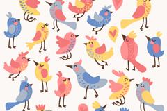 Link toCartoon bird seamless vector background