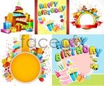 Link toCartoon birthday elements vector