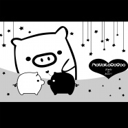 Link toCartoon black and white pig image download