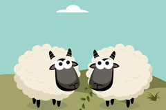 Link toCartoon black sheep design vector