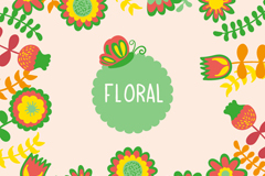 Link toCartoon border flowers vector