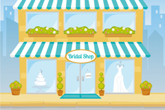 Link toCartoon bridal shop vector