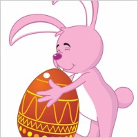 Link toCartoon bunny and egg 01 vector