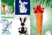 Link toCartoon bunny images vector