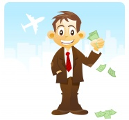 Link toCartoon business man holding money pictures