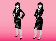 Link toCartoon businesswomen vector free