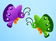 Link toCartoon butterflies vector free
