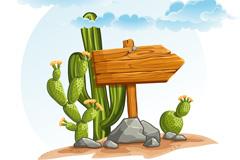 Link toCartoon cactus desert vector
