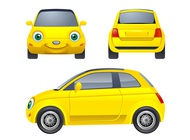 Link toCartoon car character vector free