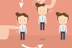 Link toCartoon career personnel changes in vector illustration