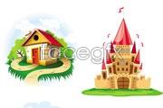 Link toCartoon castle house vector