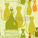 Link toCartoon cat backgrounds 2 vector