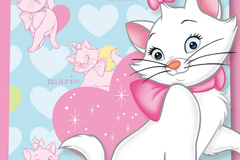 Link toCartoon cat mary background vector