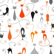 Link toCartoon cat seamless pattern vector graphic free