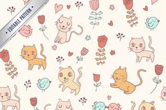 Link toCartoon cat seamless vector background illustration