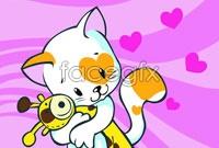 Link toCartoon cat tile vector