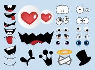 Link toCartoon character elements vector free