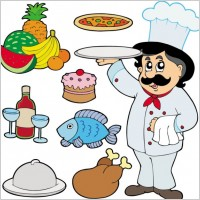 Link toCartoon characters chef 05 vector