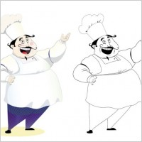 Link toCartoon characters chef 08 vector