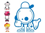 Link toCartoon characters designs vector free