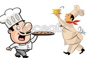 Link toCartoon chefs and food vector