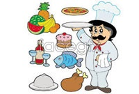 Link toCartoon chefs food vector