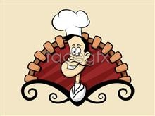 Link toCartoon chefs icon psd source files