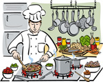 Link toCartoon chefs illustration vector