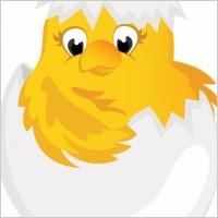 Link toCartoon chicks break the shell 03 vector
