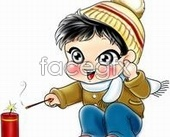 Link toCartoon child cigarette gun psd