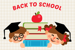 Link toCartoon children back to school poster vector