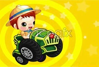 Link toCartoon children racing ai vector illustration