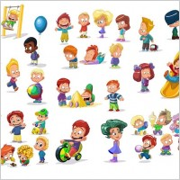 Link toCartoon children vector