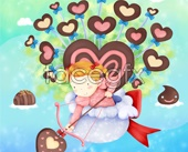 Link toCartoon chocolate cupid psd