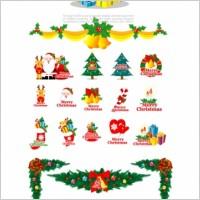 Link toCartoon christmas element vector
