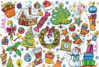 Link toCartoon christmas illustration collection of vector graphics