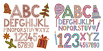 Link toCartoon christmas letters vector