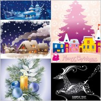 Link toCartoon christmas ornaments background vector