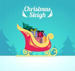 Link toCartoon christmas sleigh vector