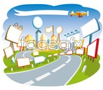 Link toCartoon city scene vector