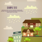 Link toCartoon city scenery vector 32