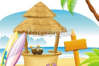 Link toCartoon coast landscape vector