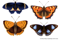 Link toCartoon-colored butterfly design vector