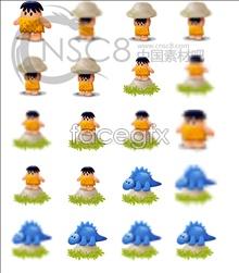 Cartoon computer icons