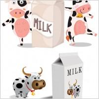Link toCartoon cow vector milk cartons and