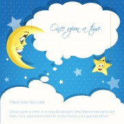 Link toCartoon cute stars and moon background vector free