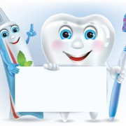 Link toCartoon cute tooth with toothpaste and toothbrush vector 01 free