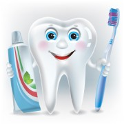 Link toCartoon cute tooth with toothpaste and toothbrush vector 02 free