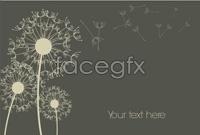 Cartoon dandelion background vector