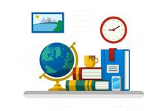 Link toCartoon desk design vector